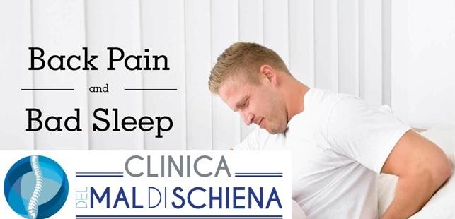 disturbi del sonno e mal di schiena